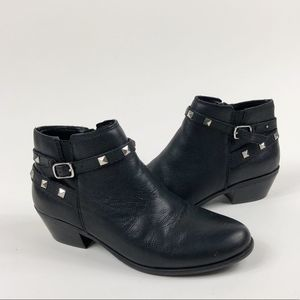 CROWN VINTAGE Leather Studded Terry Ankle Booties